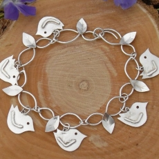 Bird and leaf Bracelet