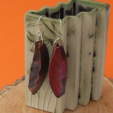 Fold formed earrings