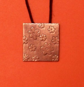 jewellery making - etching