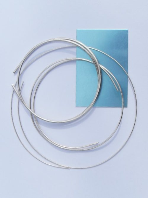 silver sheet and wire
